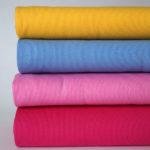 Bundstrick Pink Rosa Gelb und Hellblau