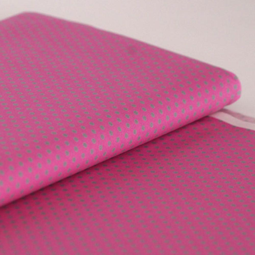 Dots Pink Grau
