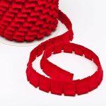 Faltenband Rot