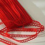 Spitzenborte Rot