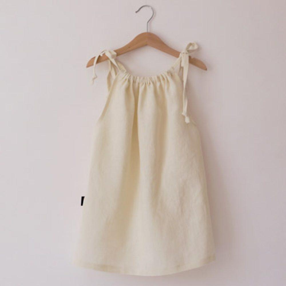 Engelsliebe Leinen Kleid wollweiss