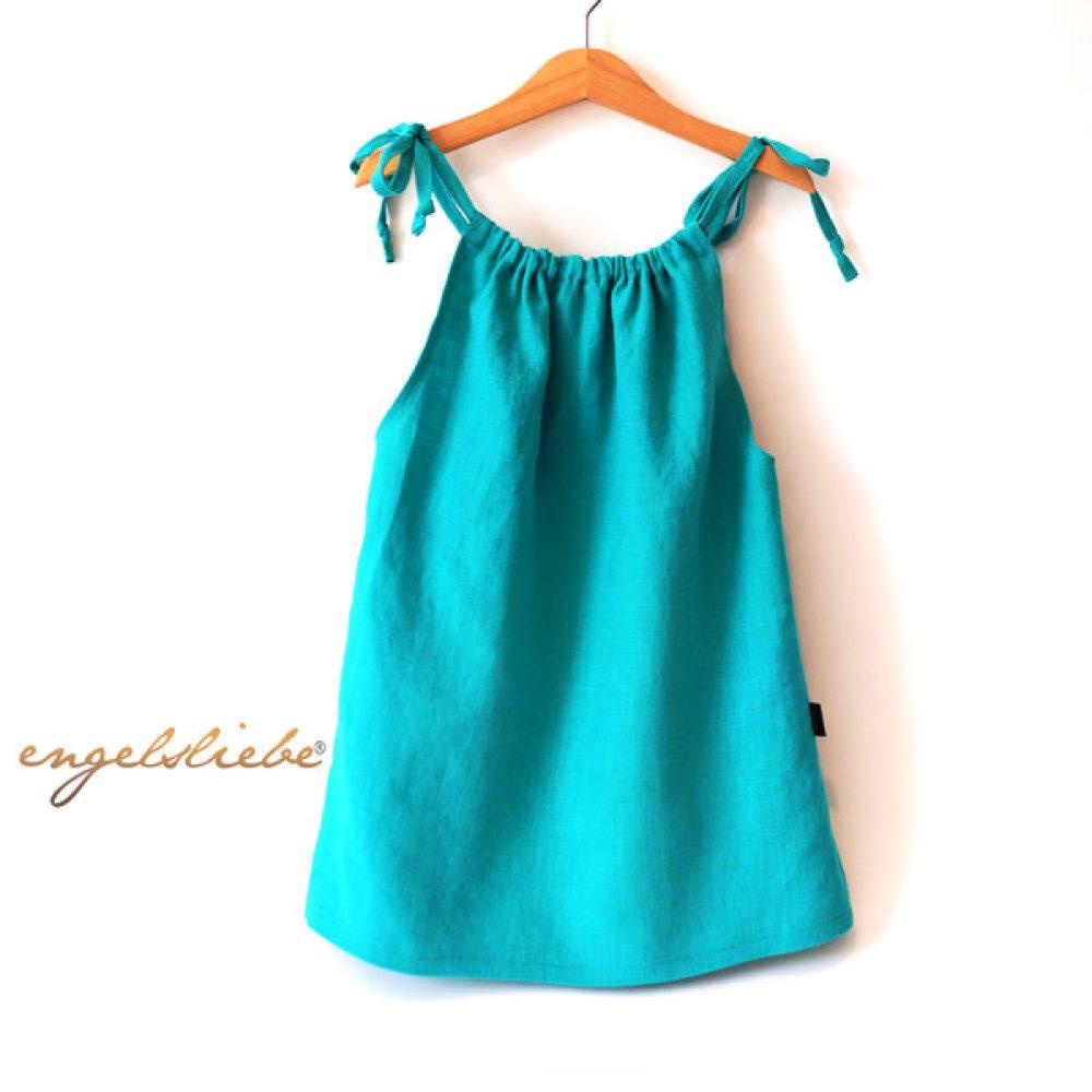 Engelsliebe Leinen Kleid Türkis