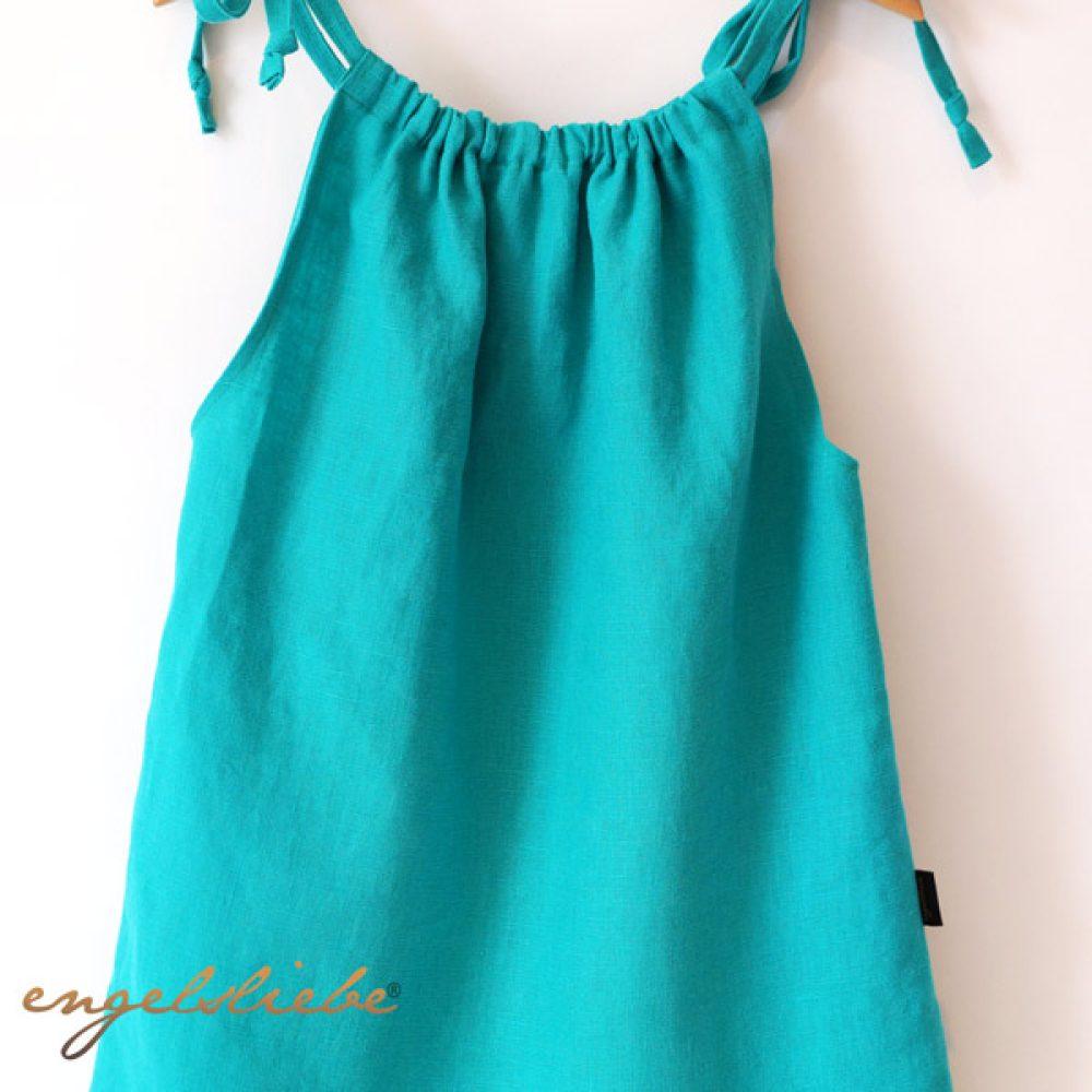 Leinen Kleid Türkis