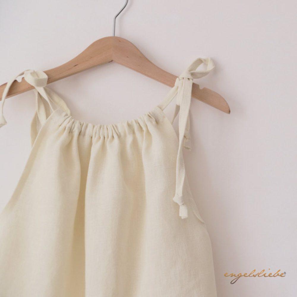 Leinen Kleid wollweiss