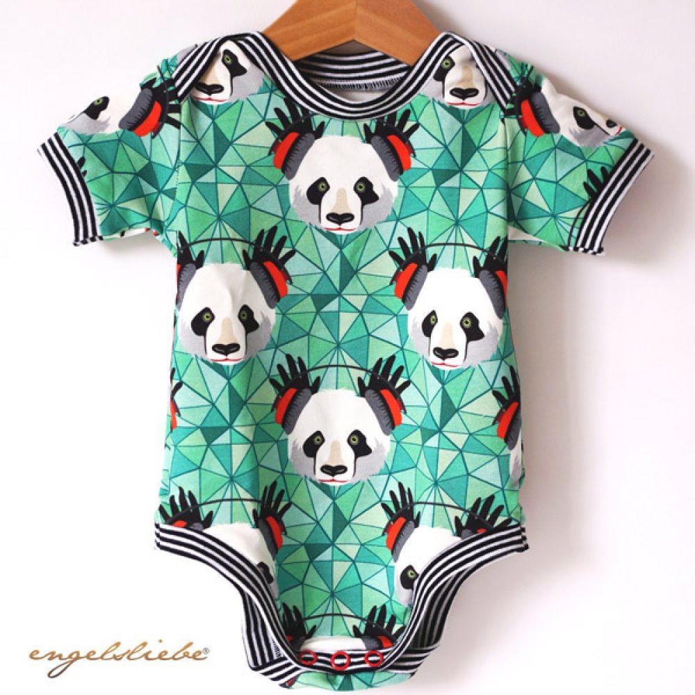 Babybody Panda gruen