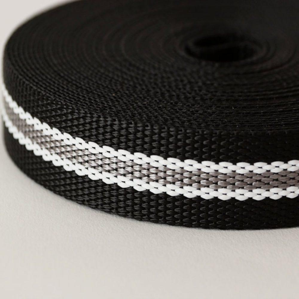 Gurtband schwarz-grau