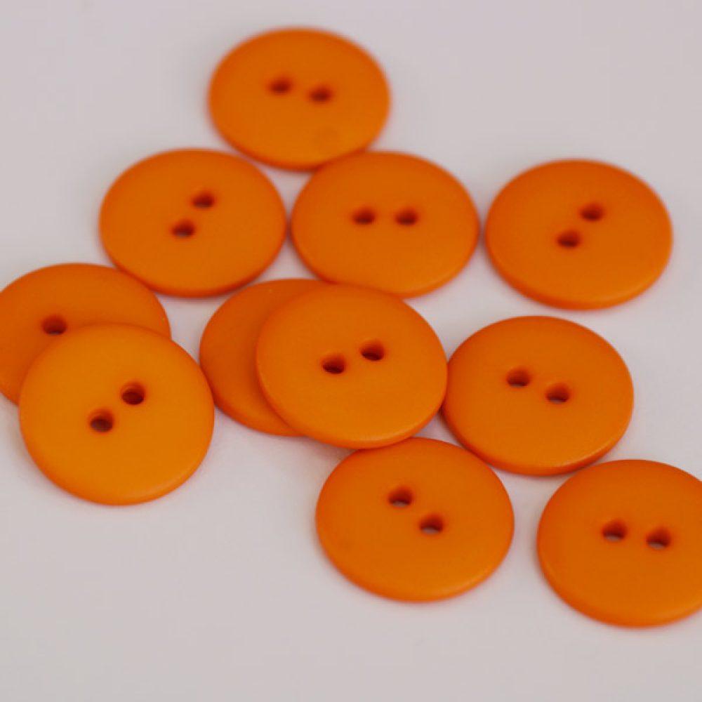 Knopf 2-Loch orange