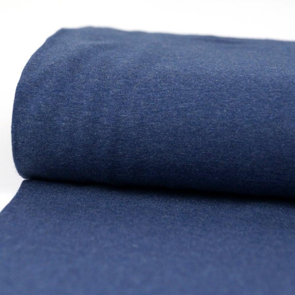Jersey meliert jeansblau