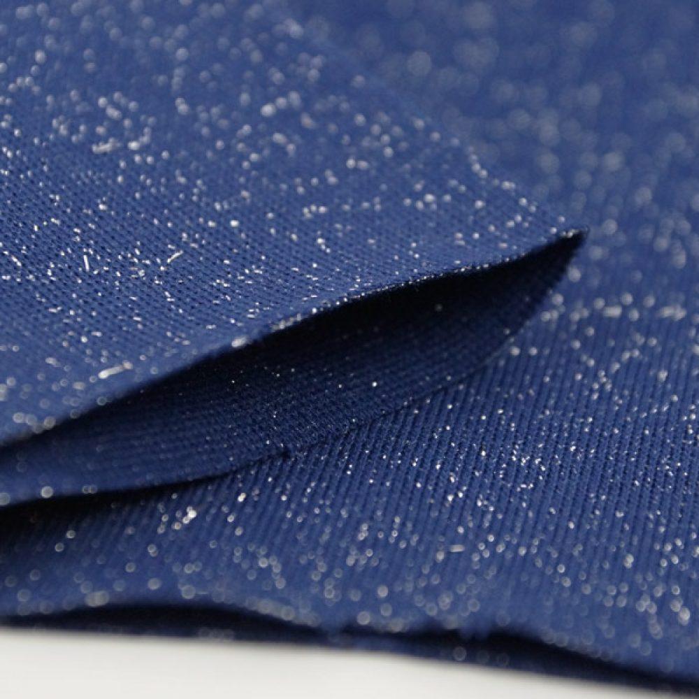 Bündchen Lurex blau