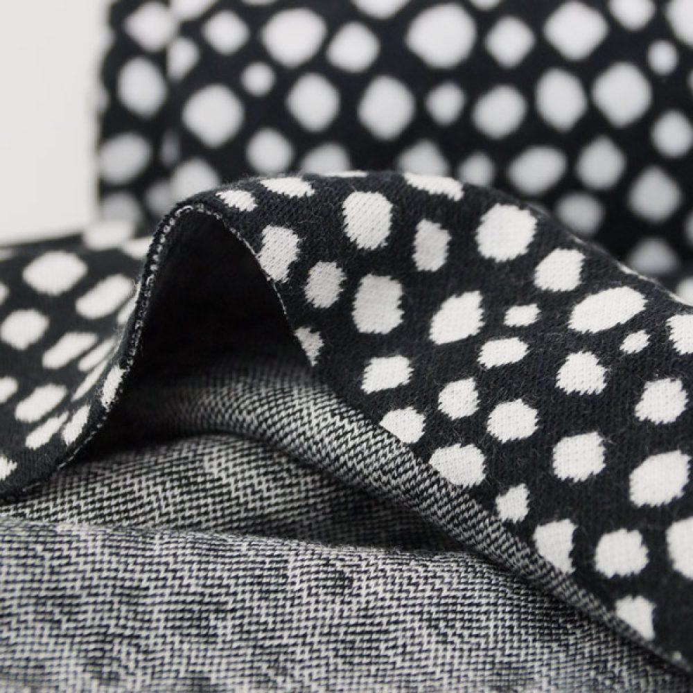 Karla schwarz-weiß Dots