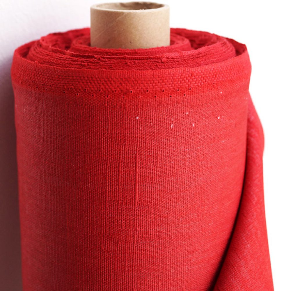 Coated Linen red