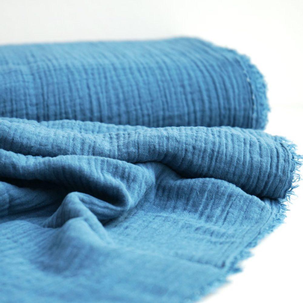 Double Gauze Jeansblau