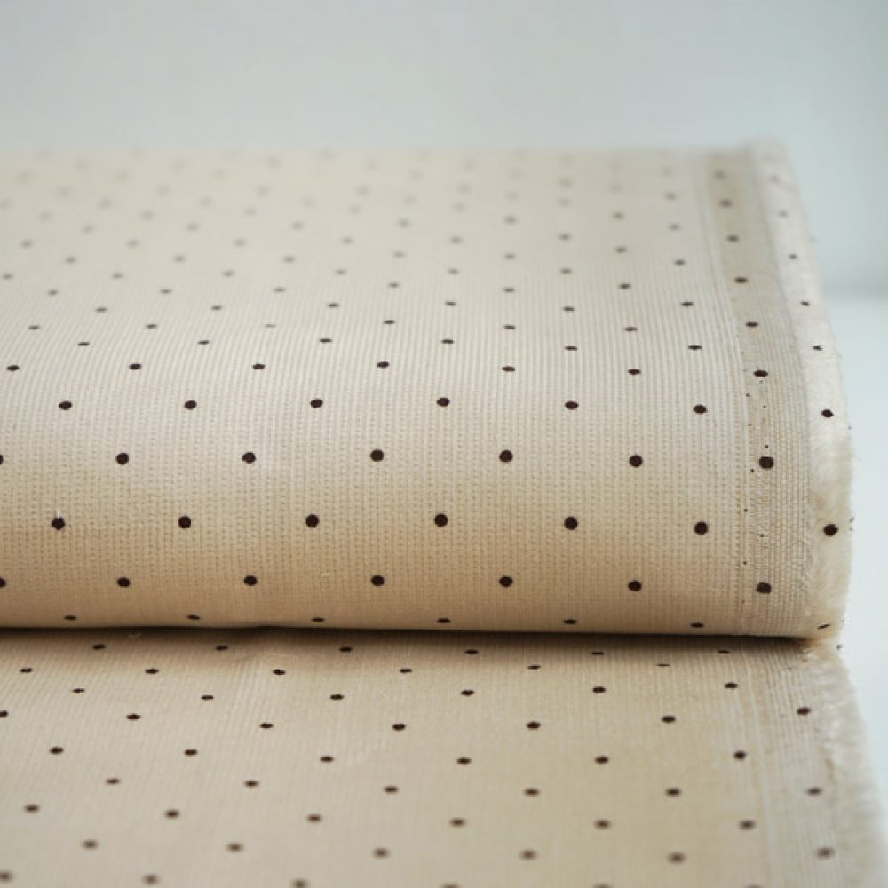 Dots Baby-Cord creme