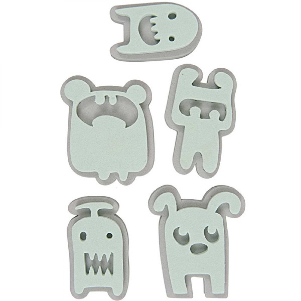 Moosgummistempel Set Monster
