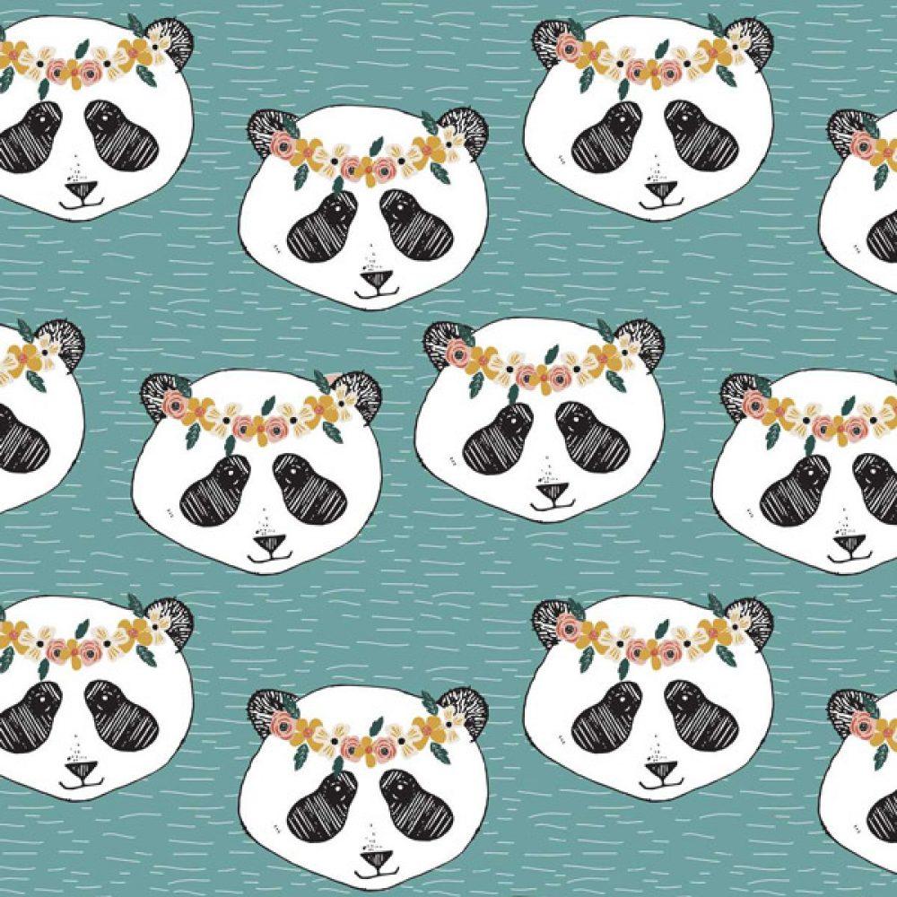 Panda Floral aqua