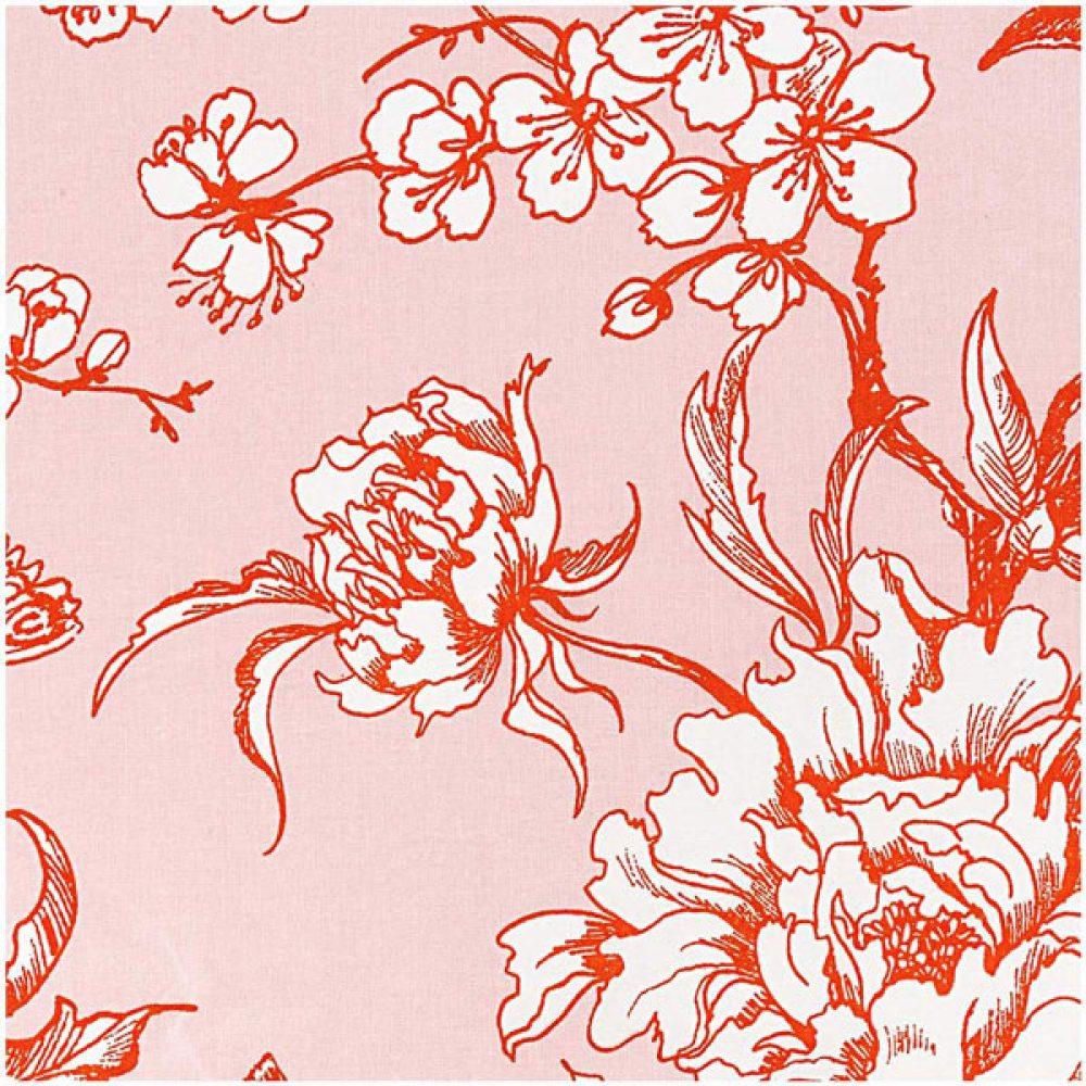 Red Flower Baumwolle - Rico Design