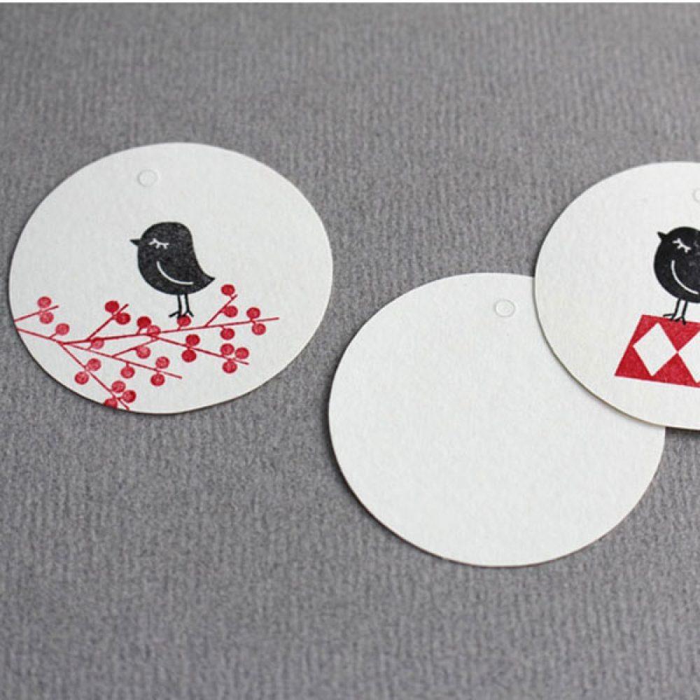 Papier Anhänger - Perlenfischer